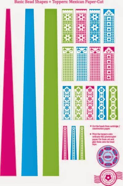 paper bead template papel picado printable paper allfreepapercrafts