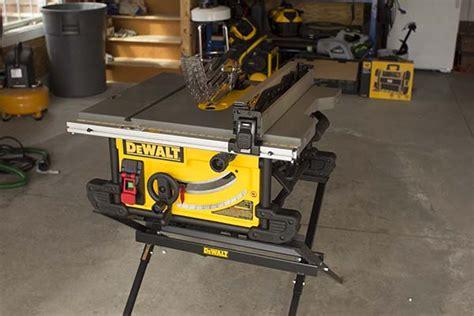 dewalt contractor table saw dewalt dwe7490x table saw with scissor stand tool box