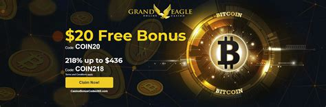 Bitcoin casino faucets are also another popular form of no deposit bonus, allowing players to claim bitcoin or other cryptocurrency in order to try out the casino, and maybe even get lucky. Grand Eagle Casino Special Bitcoin Promo | Casino Bonus Codes 365