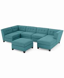 harper fabric 6 piece modular chaise sectional sofa With harper fabric 6 piece chaise modular sectional sofa