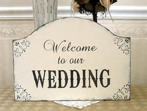 personalized photo guest book wedding welcome sign shabby chic flourishes by signsbydiane