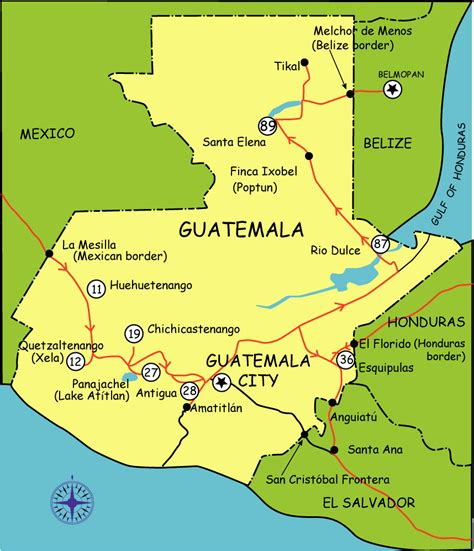 guatemala touristische karte