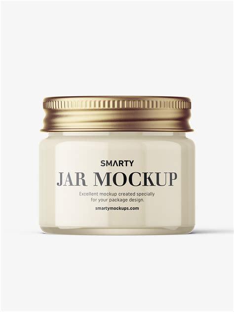 Download 126 cosmetic mockup free vectors. Cosmetic jar mockup with silver cap / 15ml / cream ...
