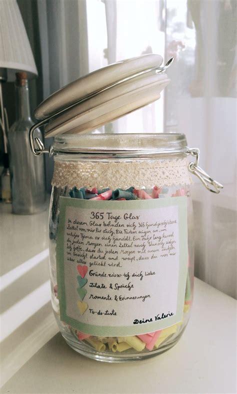 Einmachgläser Zu Verschenken by 365 Tage Glas Jubil 228 Um Zweij 228 Hriges Jahrestag
