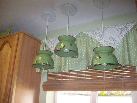 over the sink light fixture see all of these 3 colander light fixtures some to build
