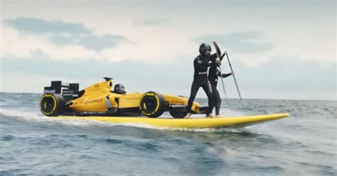 surf car 2016 surfing with a renault formula one car video dpccars