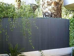 Cacher Vis A Vis Jardin : canisse pvc pour jardin 1 8 x 3 ml anthracite ~ Dailycaller-alerts.com Idées de Décoration