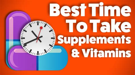 Best Time To Take Vitamins And Supplements Youtube