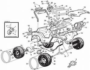Power Wheels Barbie Sport Jeep Parts
