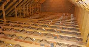 plancher combles perdus le grenier nutant pas utilis son With pose plancher bois exterieur