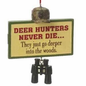 Midwest, 3, U0026quot, Funny, U0026quot, Deer, Hunters, Never, Die, U0026quot, Plaque, Quote, Christmas, Ornament, Red