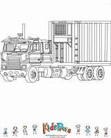 Coloring Truck Refrigerator Kidspressmagazine Train Preschool Trucks sketch template