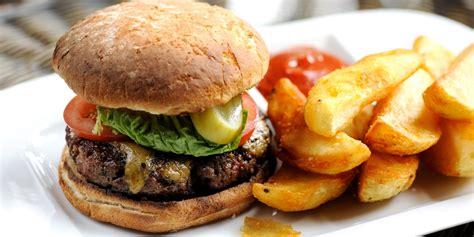 beef burger recipe  stilton rarebit great british chefs