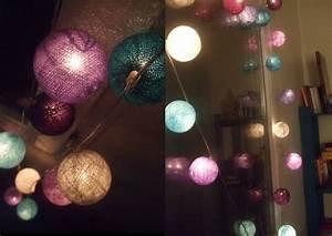 Guirlande Boule Lumineuse : guirlande boules lumineuses un pied dans les nuages ~ Teatrodelosmanantiales.com Idées de Décoration