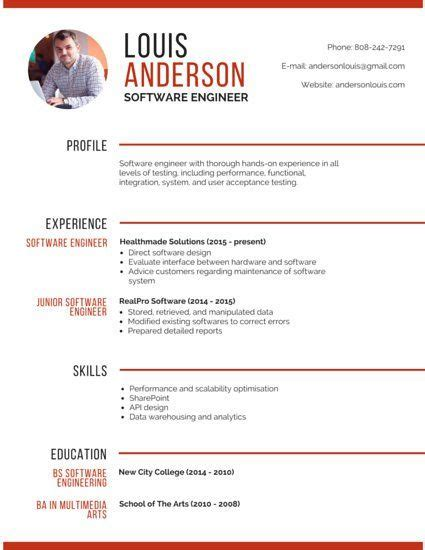 Professional Resume Builder Software by Professional Software Engineer Resume Resume