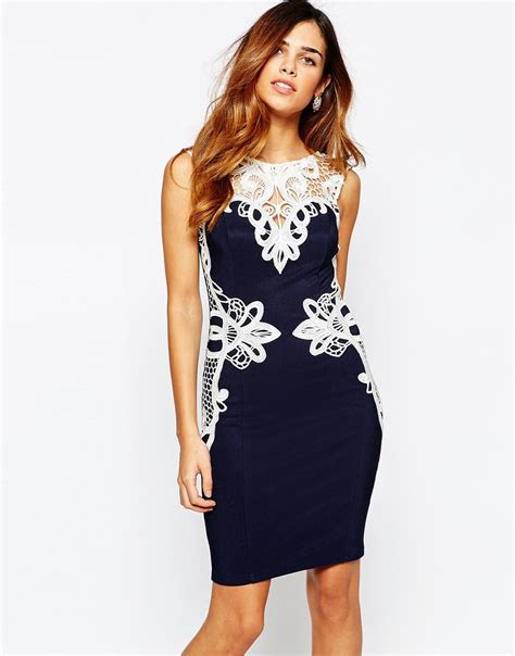 Lipsy Lace Applique Dress by Lipsy Keegan Lace Applique Pencil Dress In