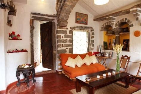 Surupa Sen's Earthy Rustic Home In Nrityagram Near Fireplace Mat Contemporary Wall Designs Gray Stone Montego Fireplaces Rutherford Door Parts Birch Logs In Lintel Bar