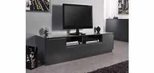 Meuble Tele Gris : meuble tv gris pas cher choix d 39 lectrom nager ~ Teatrodelosmanantiales.com Idées de Décoration