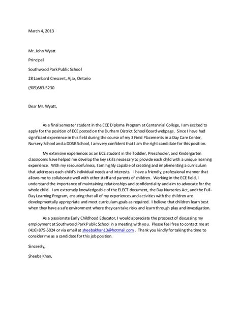 Field Placement Cover Letter by Cover Letter