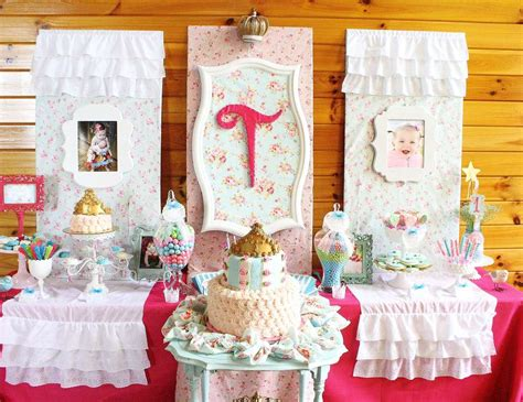 shabby chic birthday decorations princess birthday quot shabby chic baby princess 1st birthday party quot catch my party