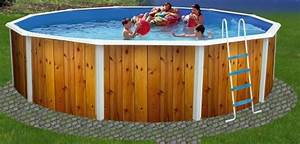 Piscine Hors Sol Acier Imitation Bois : piscine hors sol ronde veta distripool ~ Dailycaller-alerts.com Idées de Décoration