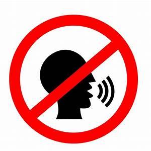 Clipart - No talking sign