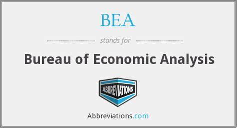 bureau of economic statistics bea bureau of economic analysis