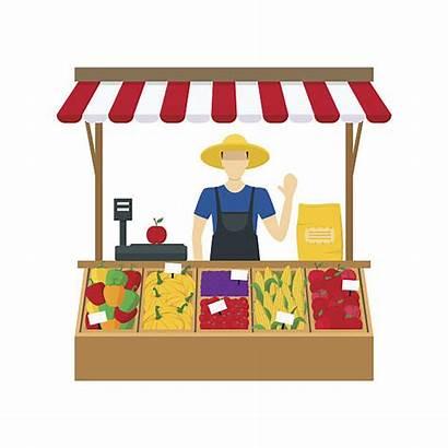 Cartoon Seller Farmer Vector Vegetable Farm Stand