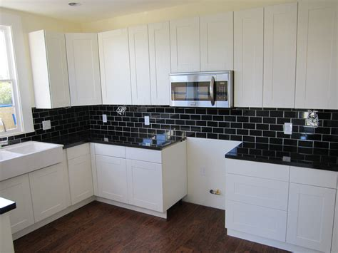 decoration glossy subway tile kitchens design inspiring