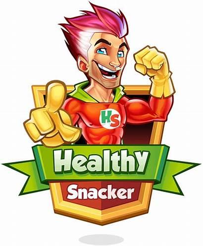 Snack Mascot Healthy Brand Snacker