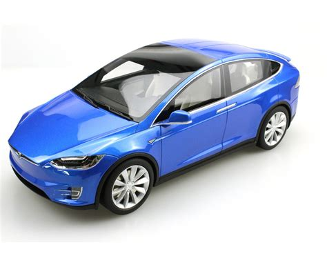 Financial news · print and mobile access · latest trends & insights Sammler-Modell :: Tesla Model X 2016 blau 1/18