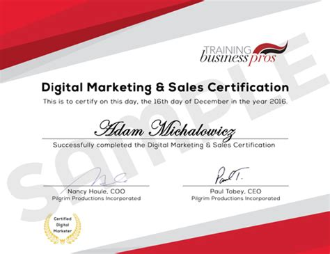 Digital Marketing Certificate Canada by Digital Marketing And Sales Certification Courses