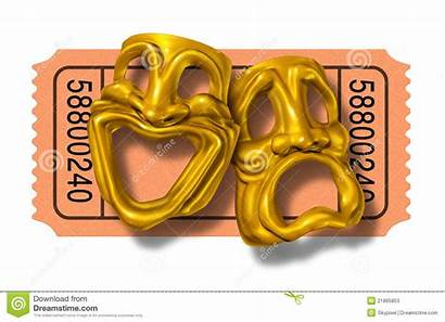 Comedy Ticket Tragedy Gold Clipart Masks Stub
