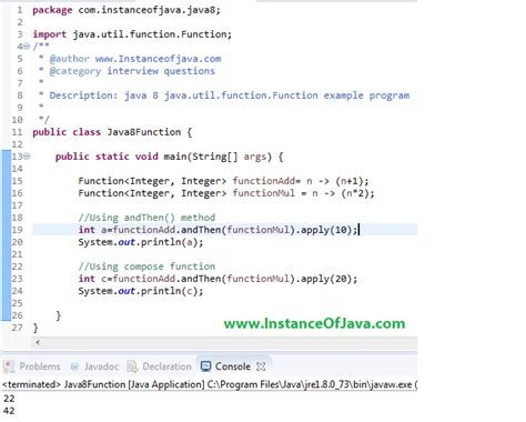 Java Util Function With Example Program