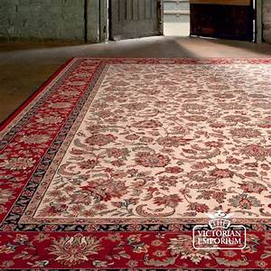 Victorian Rug - style NA1276 in Red Rugs