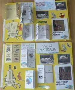 australian lapbook ecc with mfw australia school australia crafts australia animals