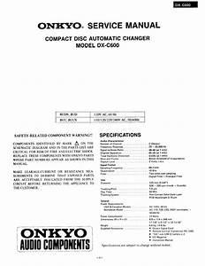 Free Download Onkyo Dxc 600 Service Manual