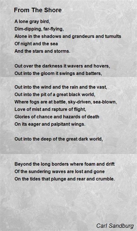 shore poem  carl sandburg poem hunter