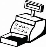 Cashier Clipart Cute Clipground Service sketch template