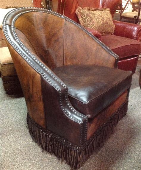 Cowhide Leather Chair by Cowhide And Leather Chair Western Swivel Chair