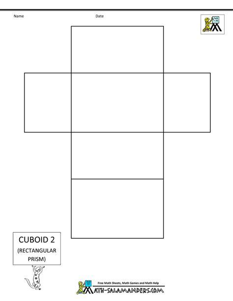template net 3d geometric shapes nets