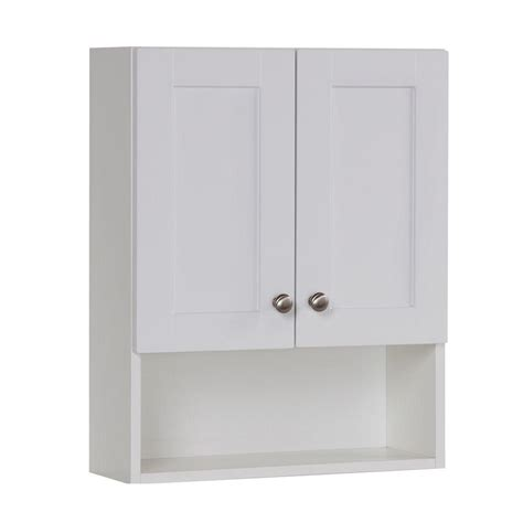 home depot wall cabinets glacier bay del mar 20 1 2 in w x 25 3 5 in h x 7 1 2 in