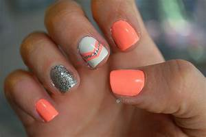 40 simple nail designs for short nails without nail art for Nail design ideas 2015