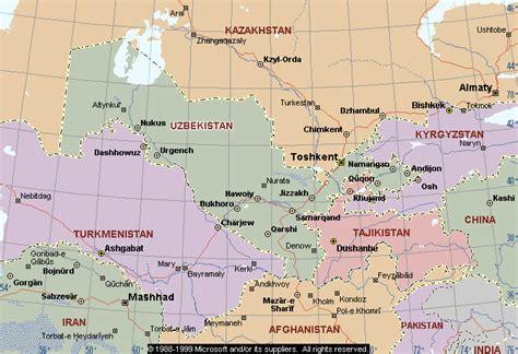 map  uzbekistan republic  uzbekistan maps mapsofnet