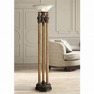 dimond athena bronze torchiere floor lamp 2x597 lamps With torchiere floor lamp houzz