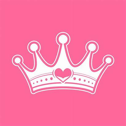 Crown Princess Vector Pink Heart Girly Jewels