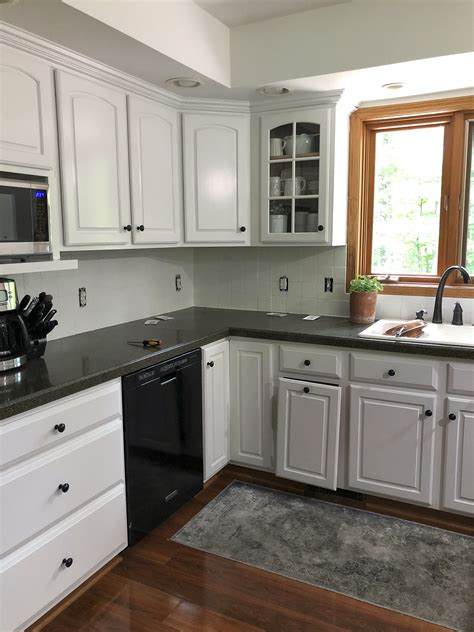 Painted Tiles For Kitchen Backsplash by How To Paint A Tile Backsplash Kitchen Renovation Grace