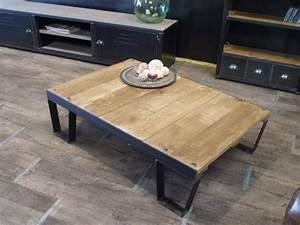 Table Basse Palettes : table basse palette sncf sur mesure micheli design ~ Melissatoandfro.com Idées de Décoration