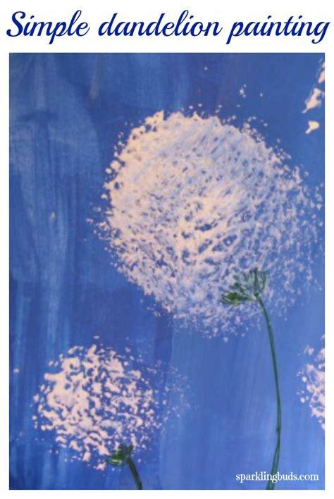 painting dandelions simple acrylic paint idea kids
