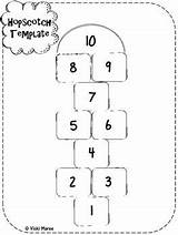 Hopscotch Blank Templates Education Coloring Literacy Teacherspayteachers Playground Numbers sketch template